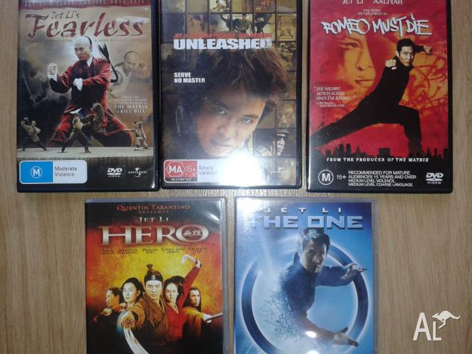 Jet Li - Marital Arts 6x DVD Movies.