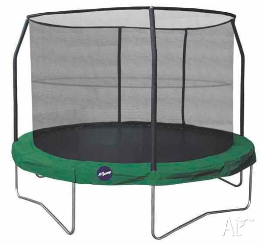 Jetjump Spring Trampoline with Enclosure 14ft Round