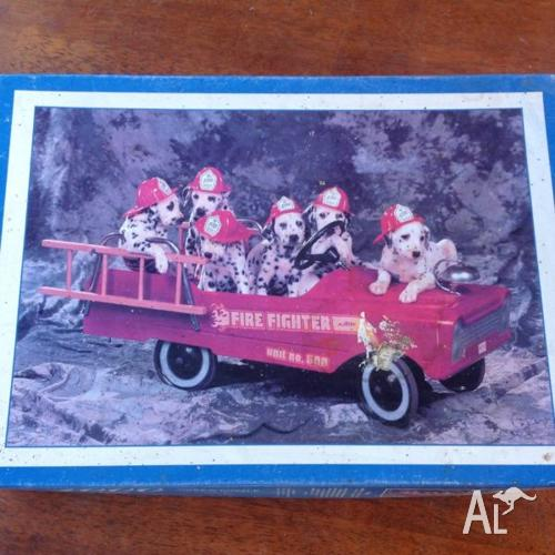 Jigsaw puzzle, 1000 piece, Dalmatians on fire truck