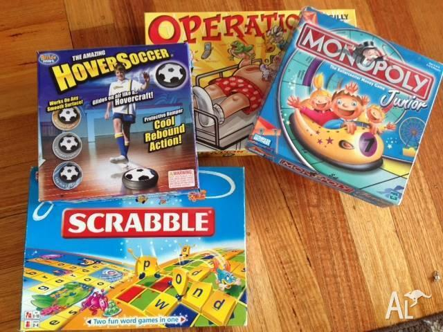 Junior Monopoly, Junior Scrabble, Operation & Hover