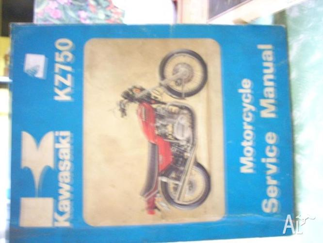 kawasaki work shop manual.kz750(genuine)