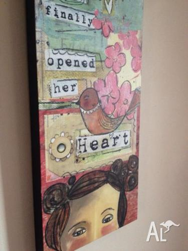 Kelly Rae Roberts canvas print - whimsical & girly!