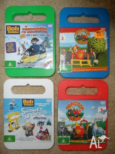 KIDS DVD'S ( 2 BOB THE BUILDER) & 2 ( TRACTOR TOM )