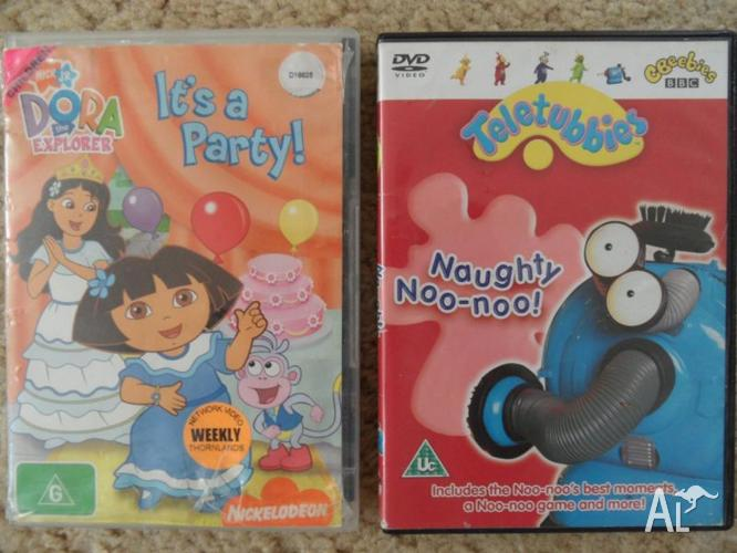 KIDS DVD'S ( DORA the EXPLORER) & ( TELETUBBIES ) WILL