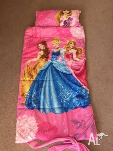 Kids Fleece Sleeping Bag - Princess Theme