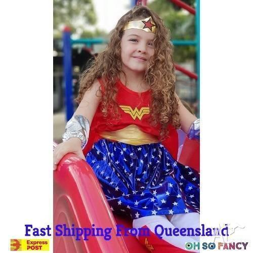 Kids Girls Wonder Woman Costume - Super powers not