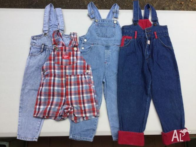 Kids overalls and shorts sizes 2 to 4 $5 each