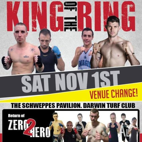 KING OF THE RING NOVEMBER 1ST! DON't MISS OUT!