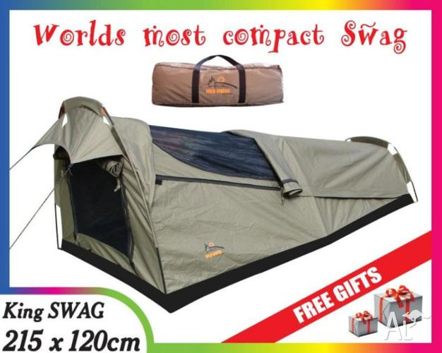 KING Single SWAG camping equipment gear tents head