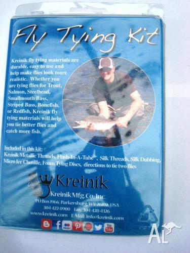 Kreinik Metallic flash in a tube fly tying kit made in