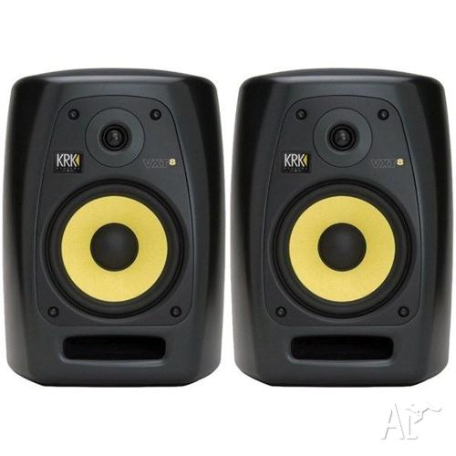 KRK VXT8 Monitors - As New Condition