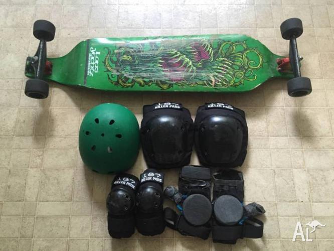 Landyachtz Evo Longboard Skateboard + Gear