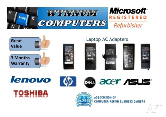 Laptop AC Adapters and Chargers - Asus, Dell, HP and