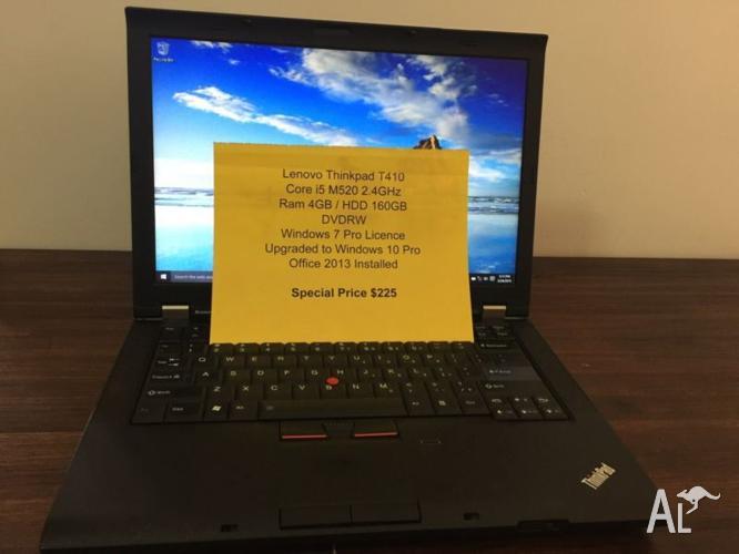 Laptop Lenovo Thinkpad T410 i5 4GB Ram 160GB HDD Win 10
