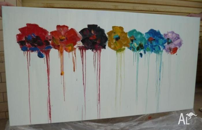 Large Abstract Floral ART 80x200cm