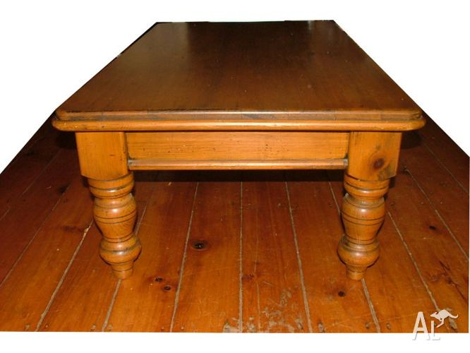 Large coffee table made from old hoop pine for sale in for Hoop coffee table