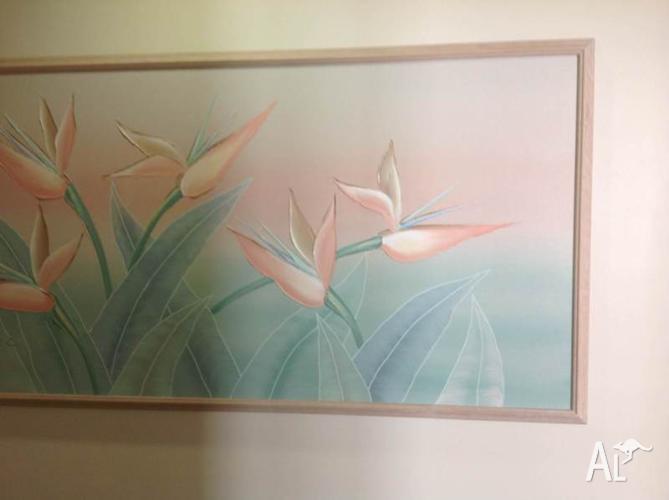 Large framed canvas artwork