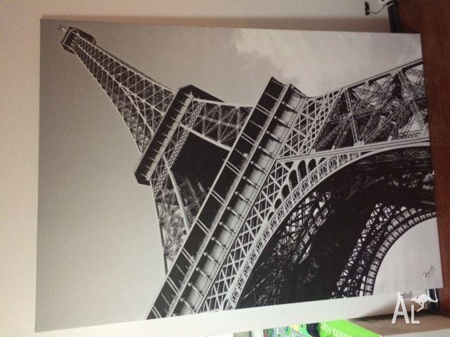 Large canvas prints ikea banksy ikea diy graffiti canvas for Eiffel tower wall mural ikea