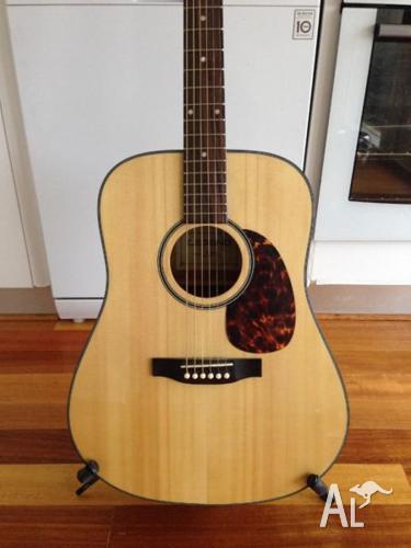 legend acoustic guitar with korg tuner case tripod stand for sale in auburn victoria. Black Bedroom Furniture Sets. Home Design Ideas