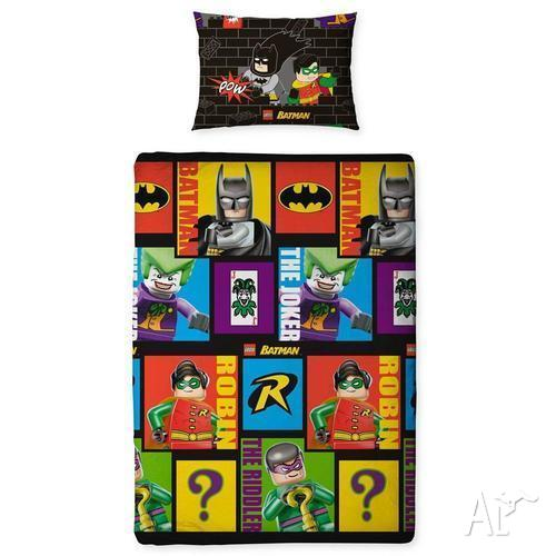 Lego Batman Cards Single Doona Quilt Cover Set For Sale In