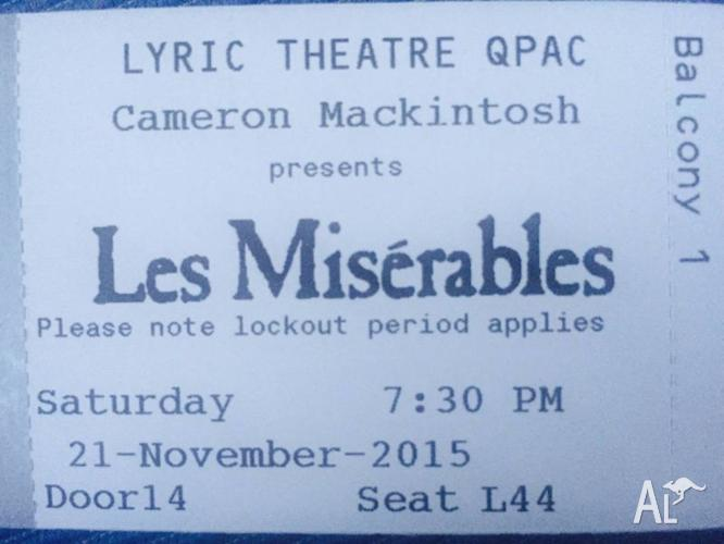 Les Miserables A Reserve Tickets + Free Parking