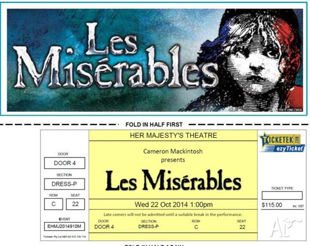 Les Miserables - Melbourne - Her Majestys Theatre -