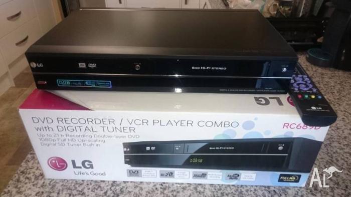 lg digital & analog dvd spelare vcr kombispelare