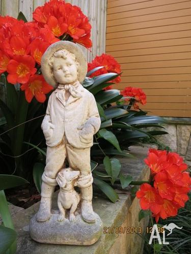 Little Boy Garden Statue