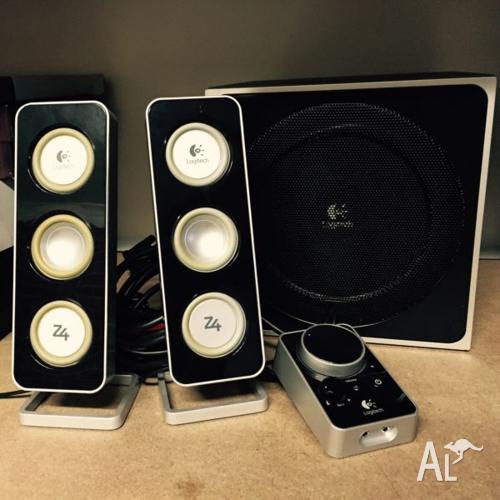 18cbe43b349 Logitech Z4 2.1 computer speakers for Sale in AMAROO, Australian ...