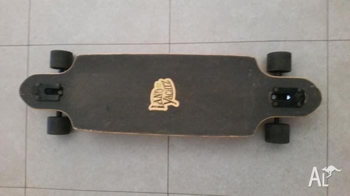 Longboard with Safety Gear