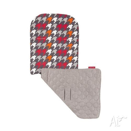 Maclaren Reversible Seat Liner, Charcoal/Penguine Grey