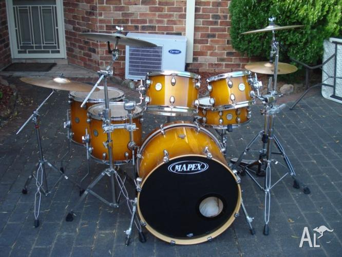Mapex Meridan maple shell 6-piece drumKIT & CYMBALS