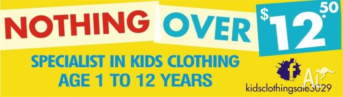 MASSIVE KIDS CLOTHING SALE AGE 1YR TO 12YRS, NOTHING