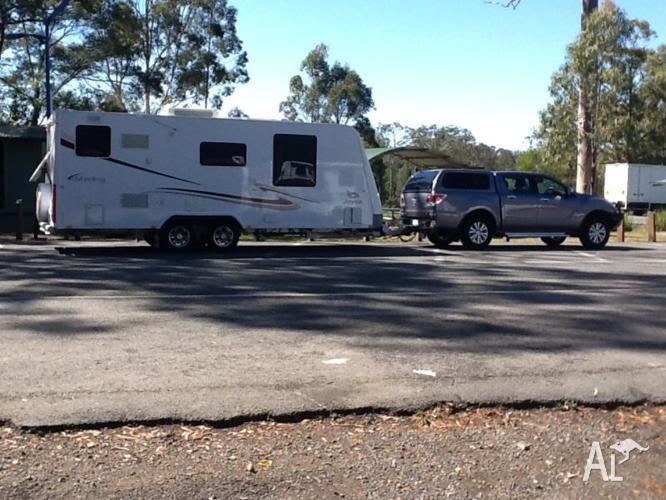 Mazda BT50 and Stirling 21.6 Caravan