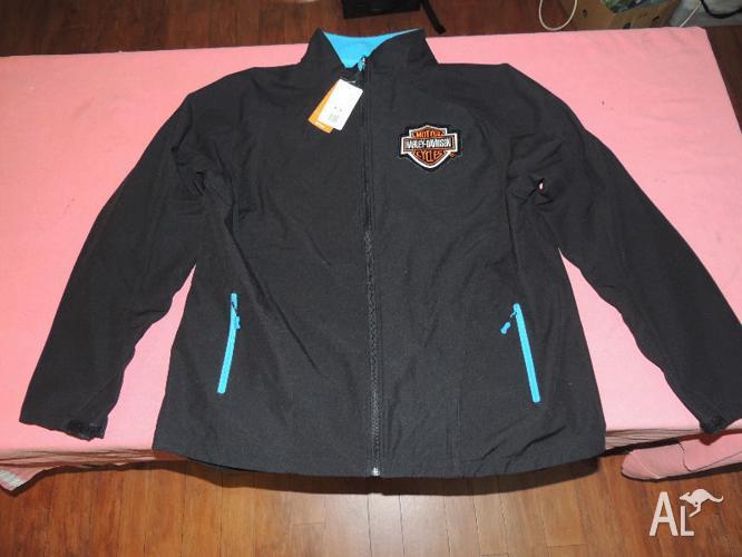 Men's Black jacket with Harley Davidson patch 3XL