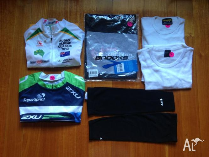 Men's Cycling Jerseys x 2/Triathlon T/Shirt/Arm