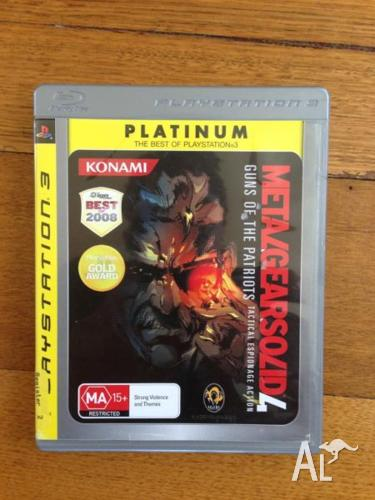 Metal Gear Solid 4 MGS4 for Playstation 3 PS3