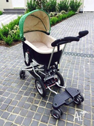 Micralite Toro Pram/Stroller with toddler skateboard