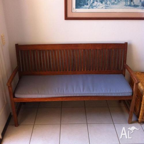 Mimosa 145cm Neils Timber Bench And Cushion For Sale In
