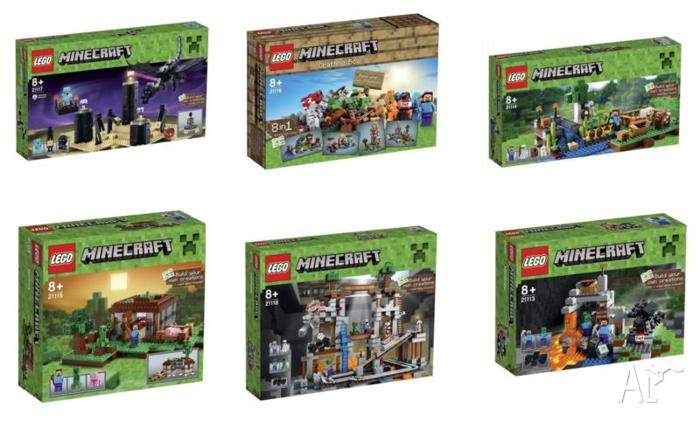 Minecraft Whole Set Brand New Sealed In Box