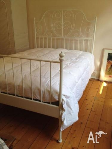 Modern Leirvik Ikea White Double Bed Mattress