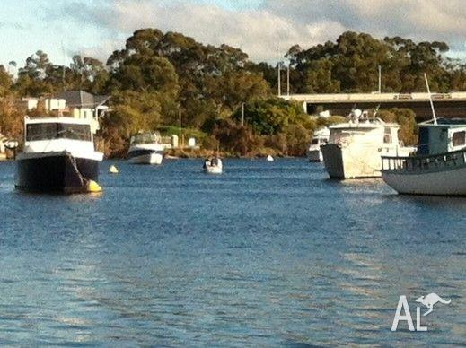 Mooring at Mt Pleasant and Aluminium Dingy with trailer