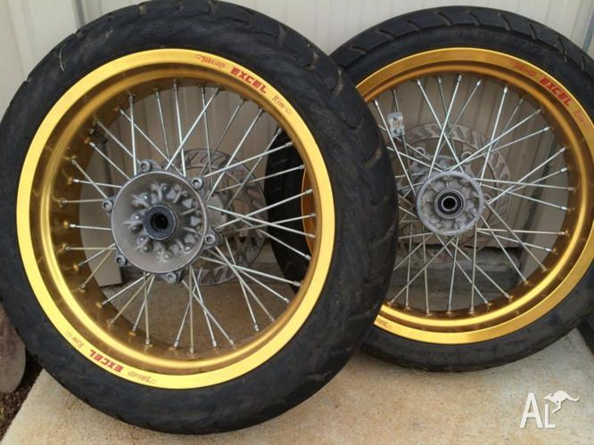 MOTARD GOLD EXCEL RIMS off a KAWASAKI KLX650 for Sale in THE