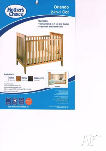 Mother's choice orlando 2 in 1 Cot (included Mattress)