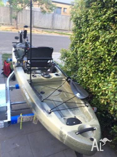 Native Watercraft Slayer 13 propel kayak with trailer