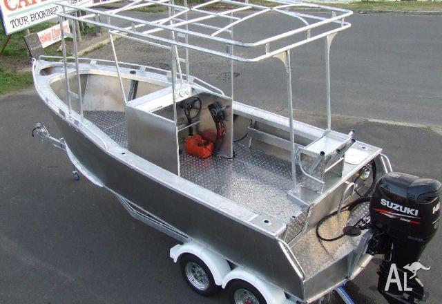 New Aluminium Plate Boat 6 8m Suzuki 140 outboard Customer