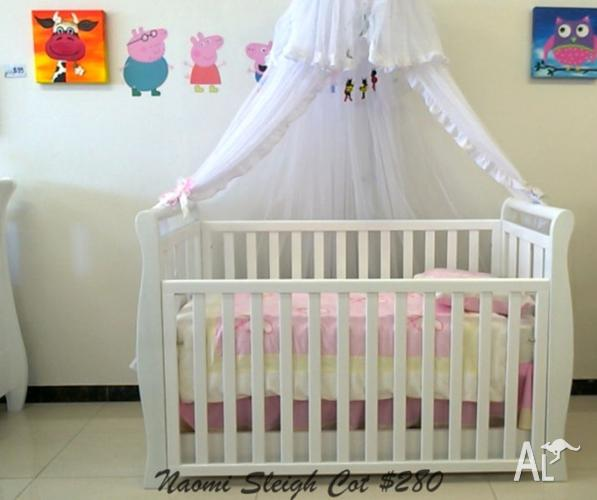 NEW Baby Cots and Change Tables from $280 ~ SHOWROOM