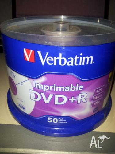 New Blank DVD+R 50pack unopended Verbatim