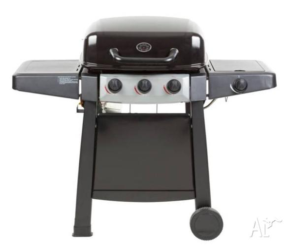 NEW Grilled 3 Burner Black BBQ
