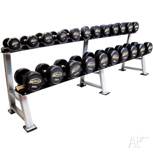 NEW Lifespan Pro-style Fixed Dumbbell Set 5kg - 50kg